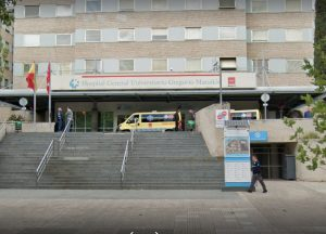 Entrada Hospital Gredorio Maranon Madrid